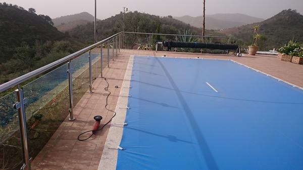 Barandilla piscina acero inoxidable