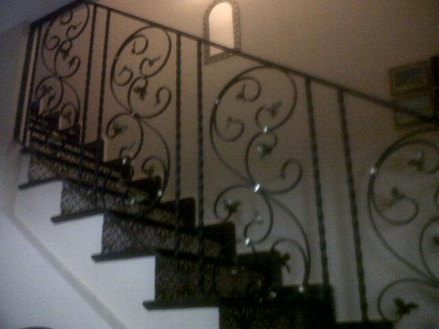 Barandillas de hierro, escaleras