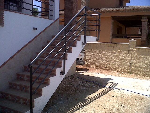 Barandillas escalera exterior