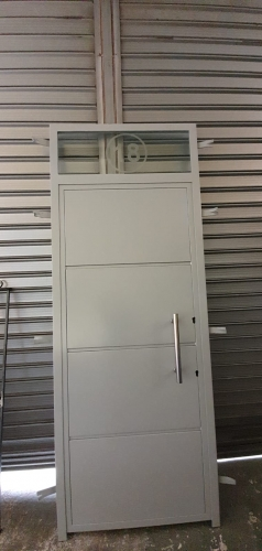 Exterior security doors with bars