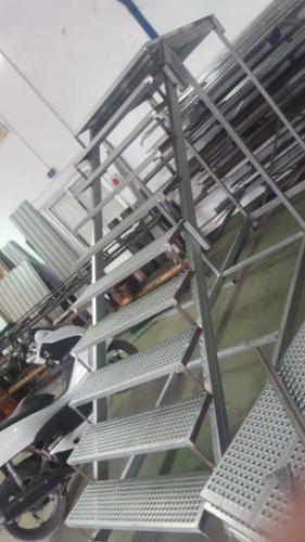 Galvanized stair