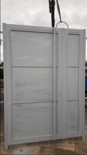 Exterior iron doors